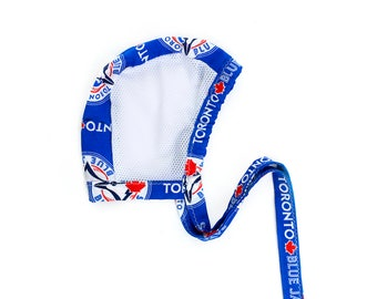 Toronto Blue Jays Mesh Hearing Aid Hat, Breathable, Baby Bonnet, Adjustable