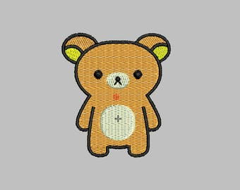 Bear Embroidery design 2 Size INSTANT download machine embroidery