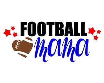 "SVG, DXF, PDF, png Cut file,""Football Mama"", bluemoosesvg, silhouette cut file, Football svg, football mama svg, football, sports svg"