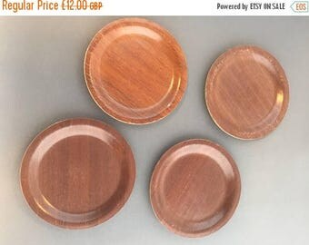 SALE 4 Vintage Swedish Silva Teak Coasters