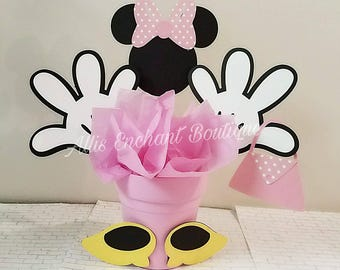 Minnie Mouse Centerpiece Disney Character Mickey Club House Party Ideas Kids Events
