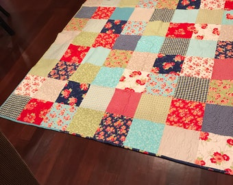 Cozy cheerful flannel quilt