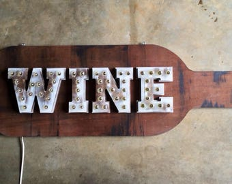 Wine Marquee Light Bulb Sign