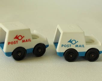 Fisher Price Little People, MAIL TRUCK, #127 Mail Truck, 1979-1984, Made in U.S.A.