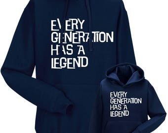 "Partnerlook Hoody father child ""every generation"""