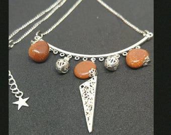 Necklace golden sand