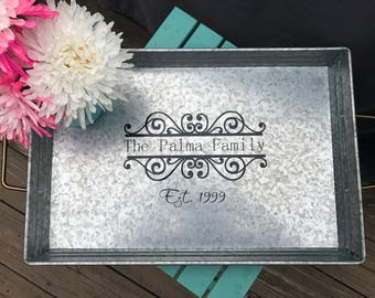 Personalized Serving Tray With You Family Name - Housewarming Gift Anniversary Wedding Bridal Shower