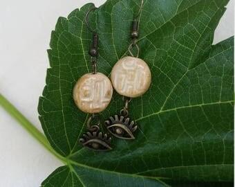 Evil Eye Earrings with Ceramic Beads