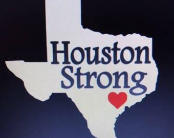 "Houston Strong Vinyl Sticker! 5""x5"" Free Shipping"