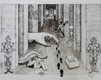 Monster Hall (print)