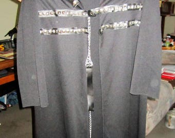 Black robe costume with leash and collar