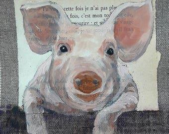 PIG.01. 20X20cm