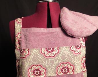 Purple Flower Bath Towel Apron