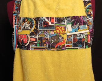 Yellow Star Wars Bath Towel Apron