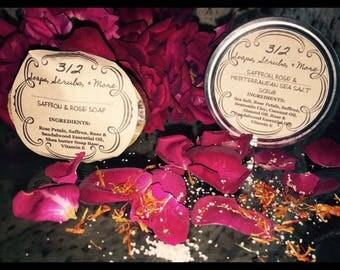Saffron & Rose Soap and Scrub
