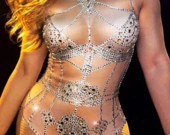 Beyonce Rhinestone leotard