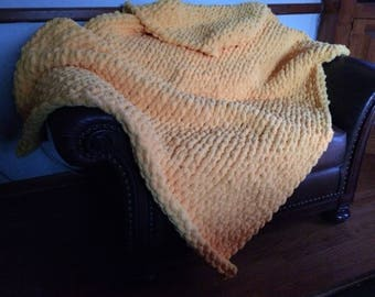 Chunky Yellow Throw Blanket