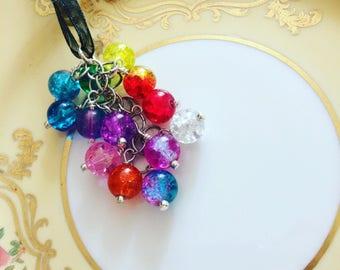 Handmade Rainbow Glass Necklace