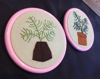 Plant Duo Embroidery Hoop Art