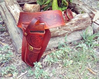 Custom Leather Western Gun Holster