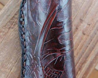 Custom leather knife sheath, folding knife case