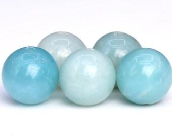 64 / 32 Pcs - 6MM Blue Amazonite Beads Grade AA Genuine Natural Round Gemstone Loose Beads (102651)