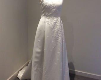 Vintage 1990's white wedding gown