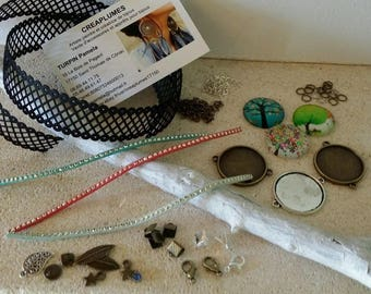Kit 3 Creating bracelets lace trees with instructions. Novelty