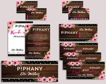 Piphany Marketing Kit, Piphany Starter Bundle, Custom Piphany Package, Piphany Card, Wooden Cards, Printable Cards - Digital file PP05