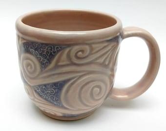 Pink and Blue Swirl Mug