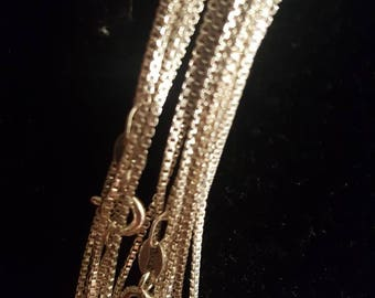 """30"""" 1 mm sterling silver box chain"""