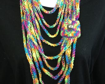 Crochet Chain Wrap Necklace