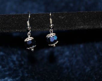 Multifaceted Blue Earrings