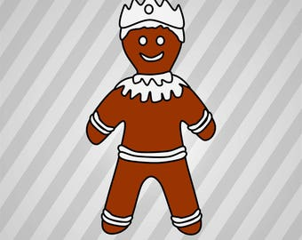Gingerbread King (Collars) - Svg Dxf Eps Silhouette Rld Rdworks Pdf Png Ai Files Digital Cut Vector File Svg File Cricut Laser Cut