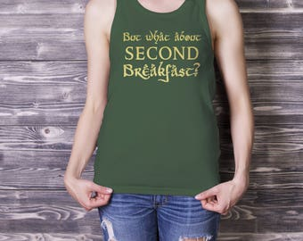 What About Second Breakfast Tank Top, Hobbit Workout Tank, Lord of the Rings Tank Top, Hobbit Gift, Funny Tshirt, Geeky Gift, Tolkien Fans