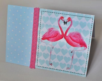 Flamingo Greetings Card, 21x15cm, Envelope Included!