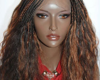 braided wig with frontal human hair