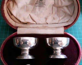 Vintage Sterling Silver Condiment Set by Thomas Bradbury & Sons 1912