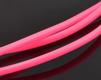 lot 1 m full Buna rubber pink 3 mm