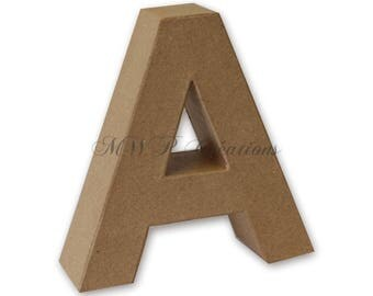 """Letter 3D """"A"""" to """"I"""" (cardboard/paper mache) to customize"""