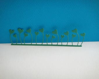 Cutting edge green hearts for scrapbooking and card