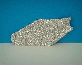 Cut little silver glitter paper