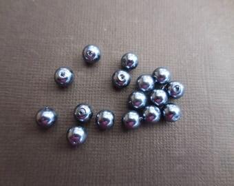 Pearls 4 mm dark grey * 1 set of 20 beads