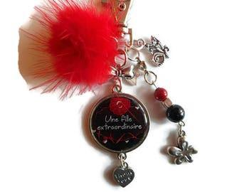 "Bag charm, Keychain / girl / ""An extraordinary girl"" / gift / birthday / thank you/party/Christmas"