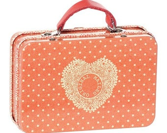 small suitcase box, storage, clothes, dolls, beads