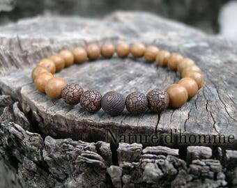 Bracelet style ethnic stone Jasper and agate Ref: BN-222