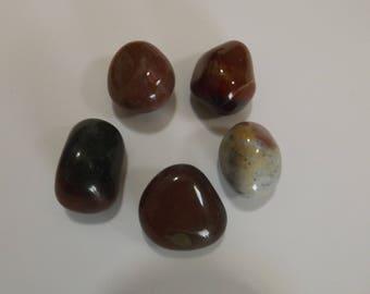 Agate Naturelle  - Lot de 5 grosses  pierres naturelles minérales pour confection