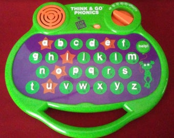Vintage 1997 Leapfrog Think & Go Phonics CREATE A WORD TRAVELER Spelling and Alphabet 3 and Up E5001