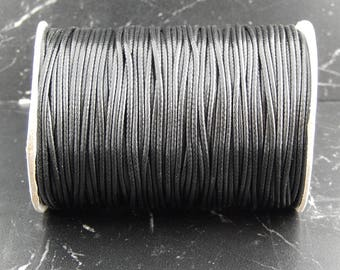 5 m cord black polyester 1 mm