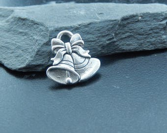 1 silver Bell pendant charm